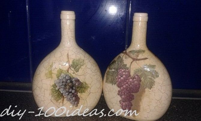 Decoupage Wine Bottle (1)