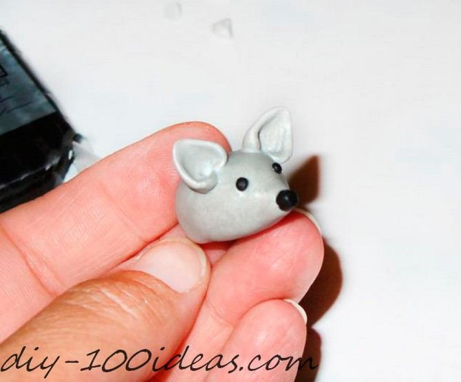 Polymer clay hedgehog TUTORIAL (13)