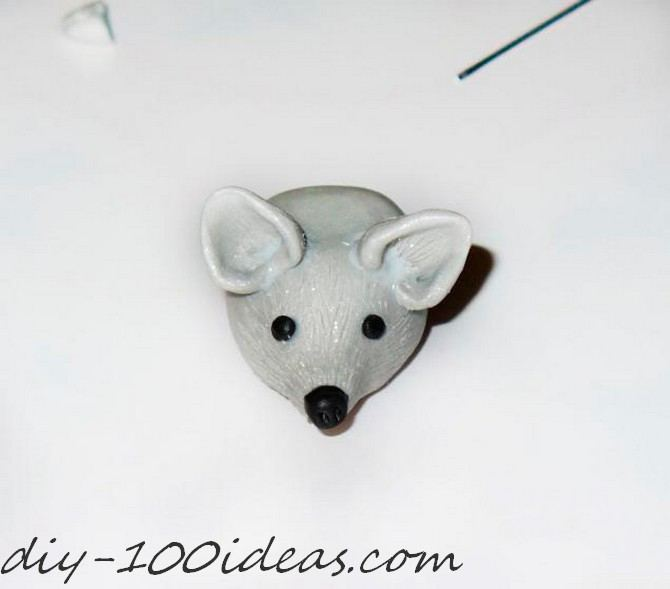 Polymer clay hedgehog TUTORIAL (14)