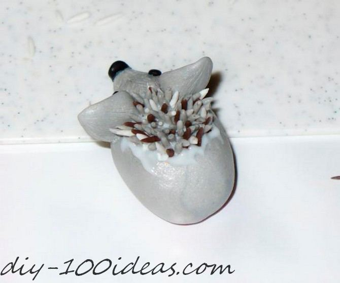 Polymer clay hedgehog TUTORIAL (21)