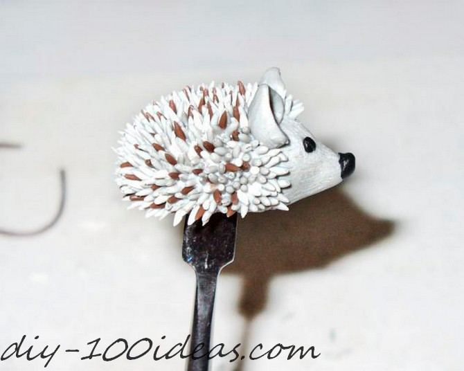 Polymer clay hedgehog TUTORIAL (23)
