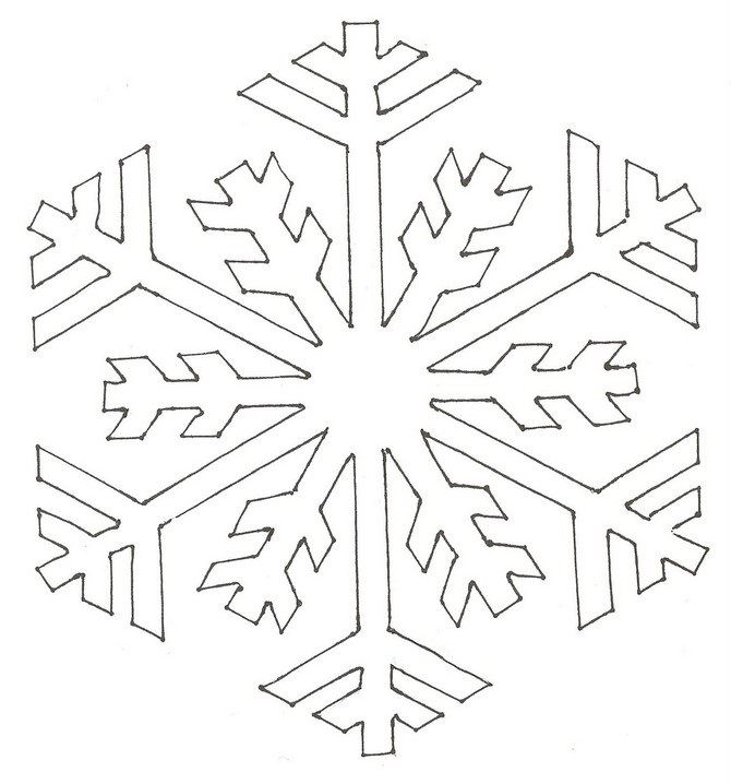 Transformative image with printable snowflake stencils