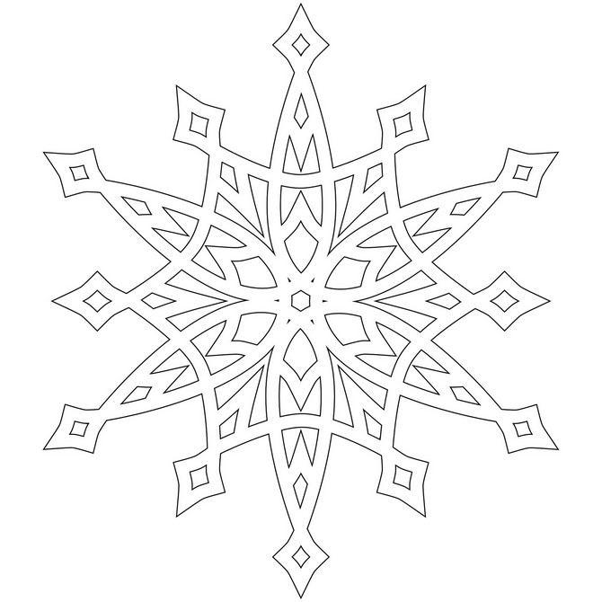 Snowflake stencil (18)