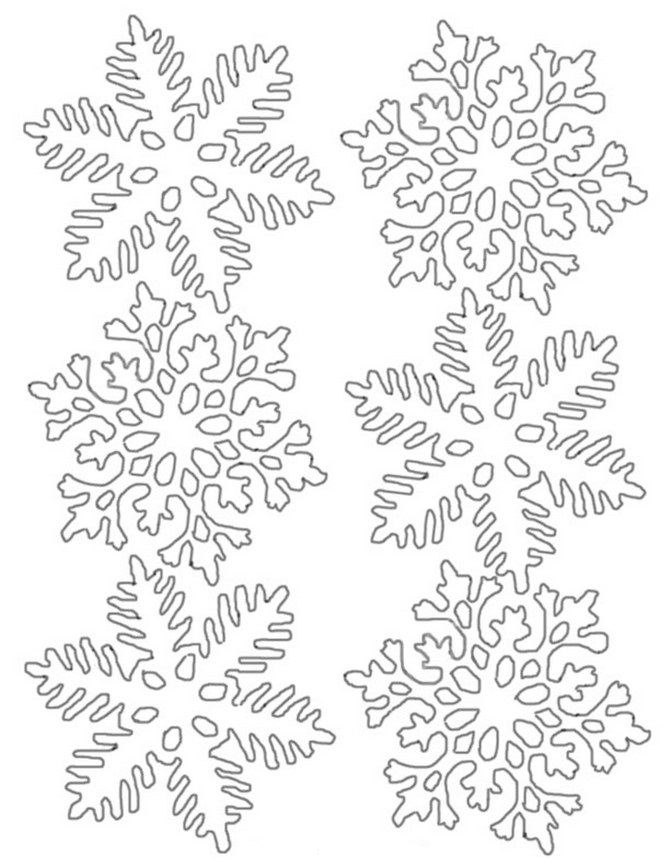 It is a picture of Ridiculous Snow Flake Print Outs