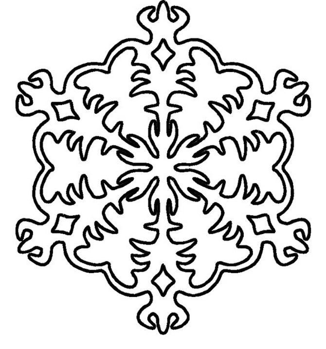 Snowflake stencils | DIY 100 Ideas