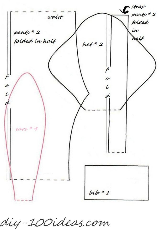 Free Sewing Pattern Tilda Bunny DIY 100 Ideas