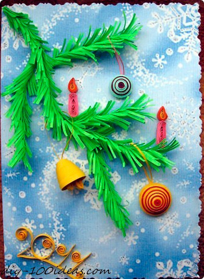 Quilling Christmas Card (13)