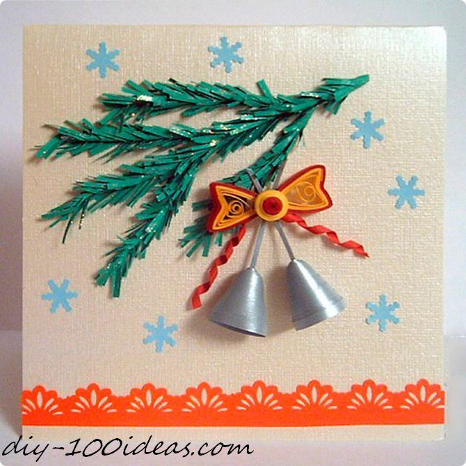 Quilling Christmas Card (15)