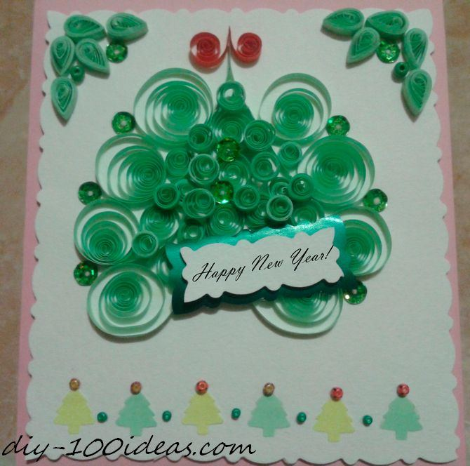 Quilling Christmas Card (4)