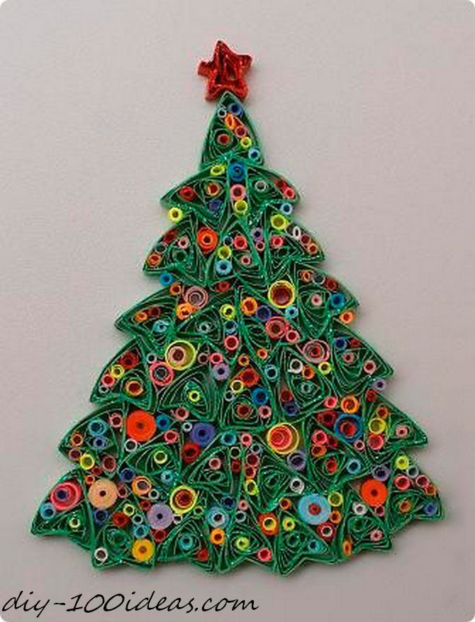 Quilling Christmas Card (7)