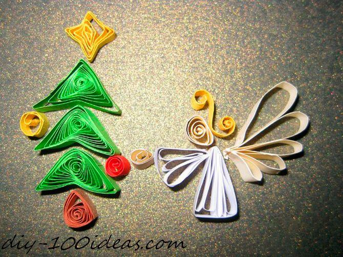 Quilling Christmas Card (9)
