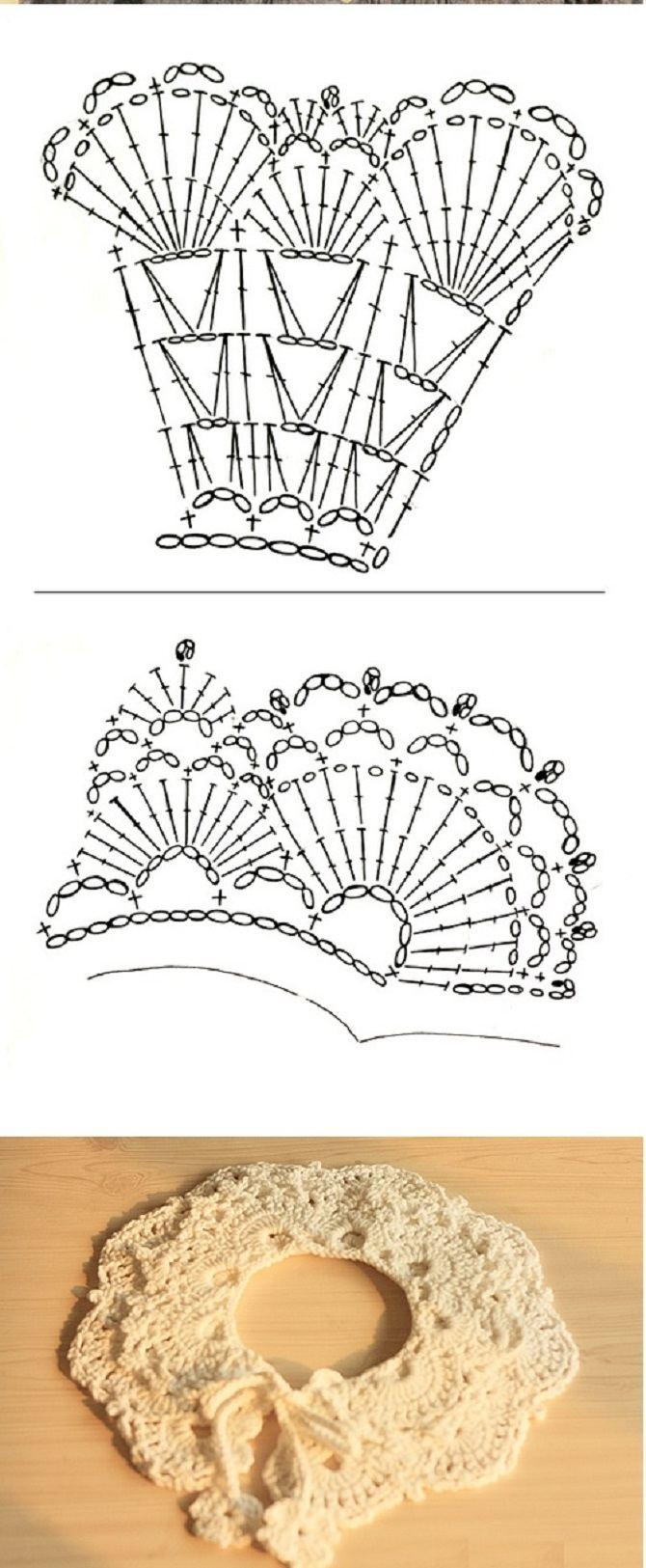Вязание крючком воротник узоры
