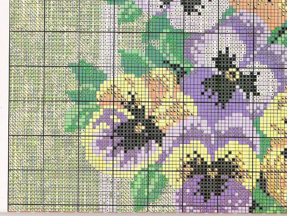 Pansies Cross Stitch Free Pattern Diy 100 Ideas