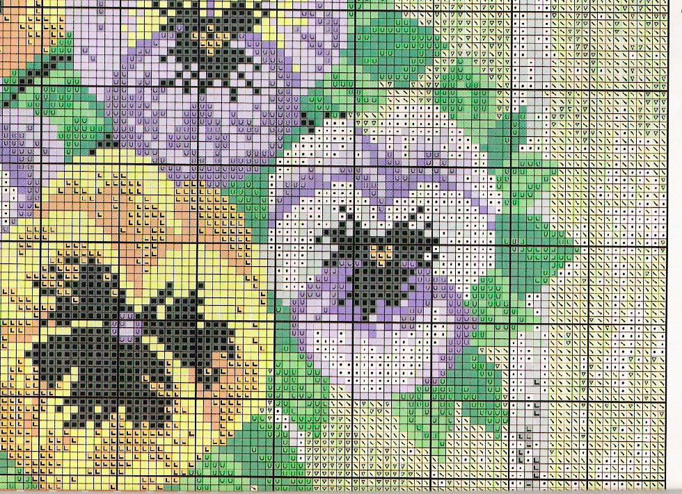 pansy cross stitch pattern free (5)
