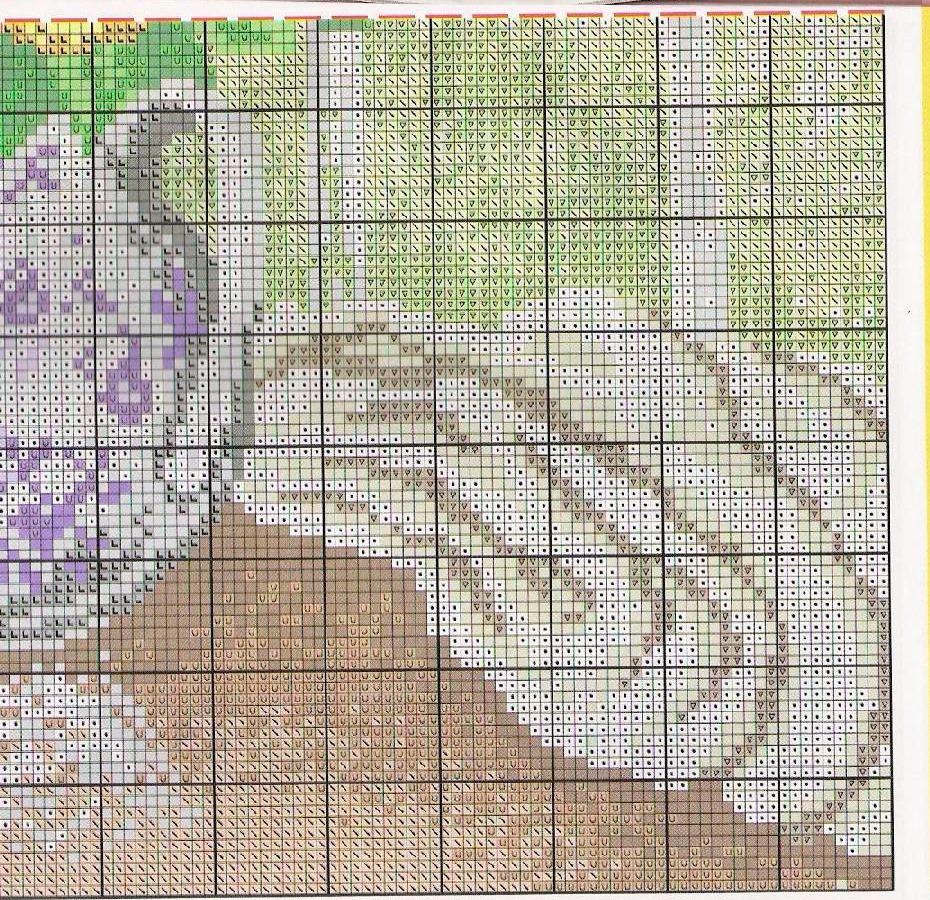 pansy cross stitch pattern free (6)