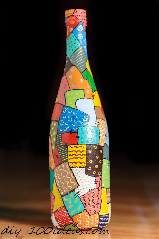How to decorate glass bottles with decoupage diy recycle with art - 6 Wine Bottle Decoration Ideas Diy 100 Ideas