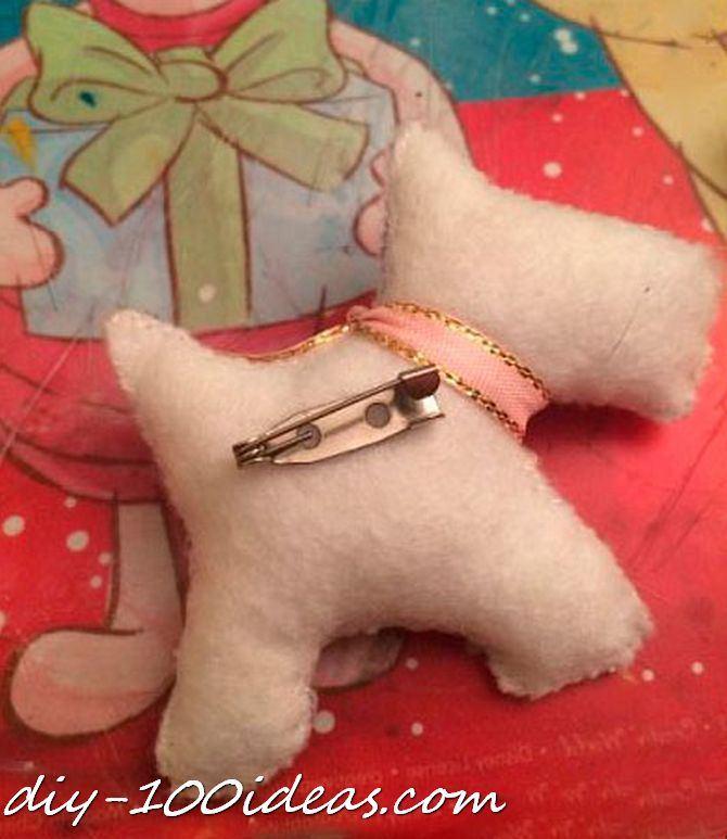 Scottie dog felt brooch (8)