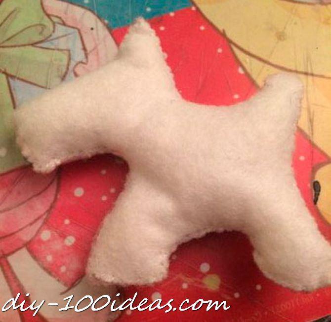 Scottie dog felt brooch (9)