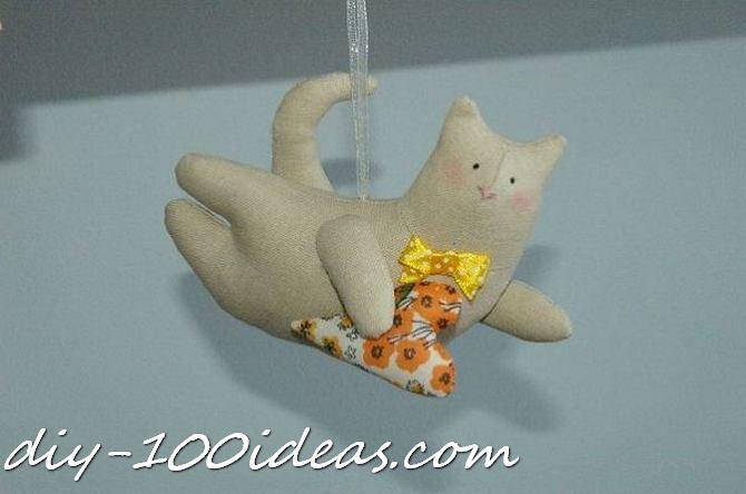 Free sewing pattern Tilda cat (1)