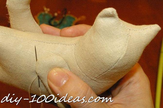 Free sewing pattern Tilda cat (21)