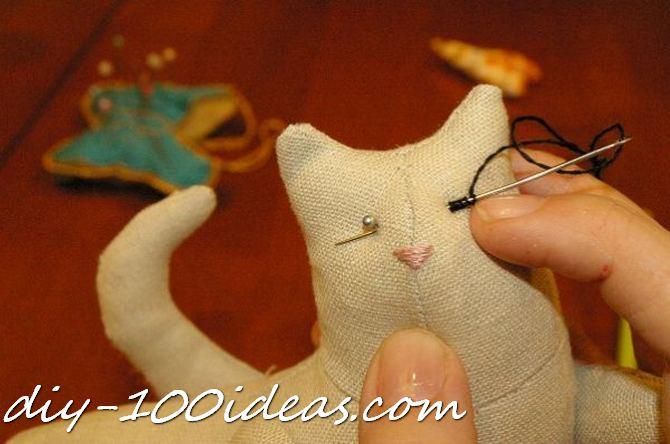 Free sewing pattern Tilda cat (25)