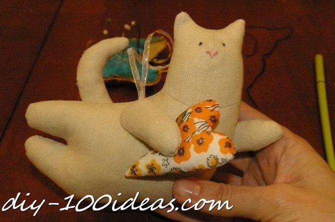 Free sewing pattern Tilda cat (27)