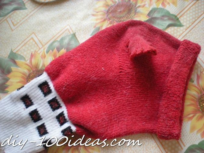 Dog hat from sock (4)