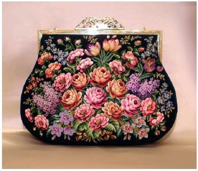 Cross stitch pattern Retro Bag (1)