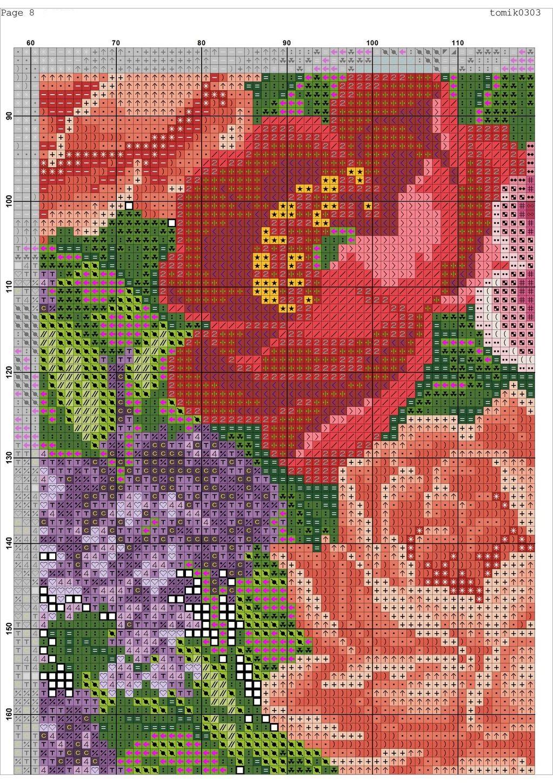 Cross stitch pattern Retro Bag (10)