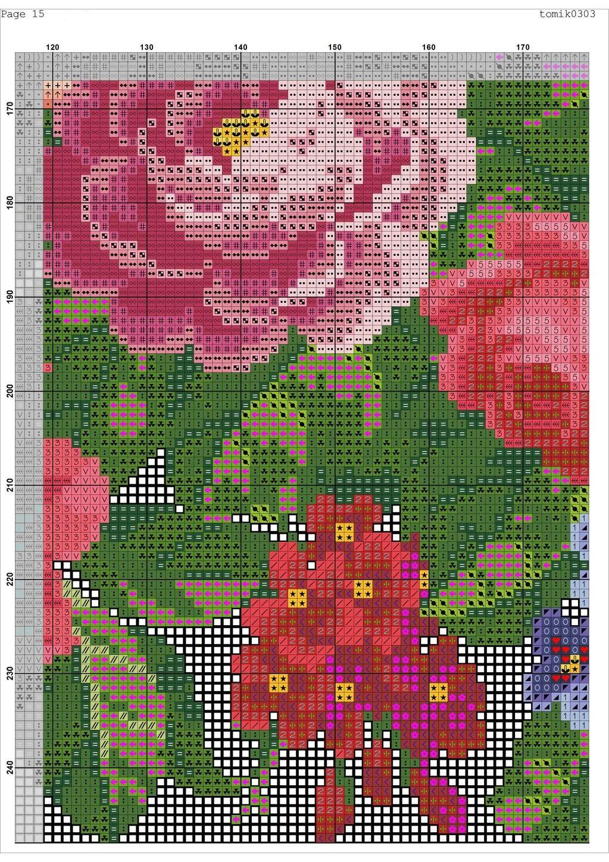 Cross stitch pattern Retro Bag (17)
