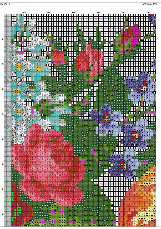 Cross stitch pattern Retro Bag (7)