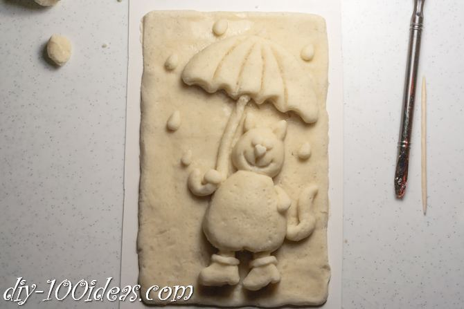 Salt Dough Cat  (8)