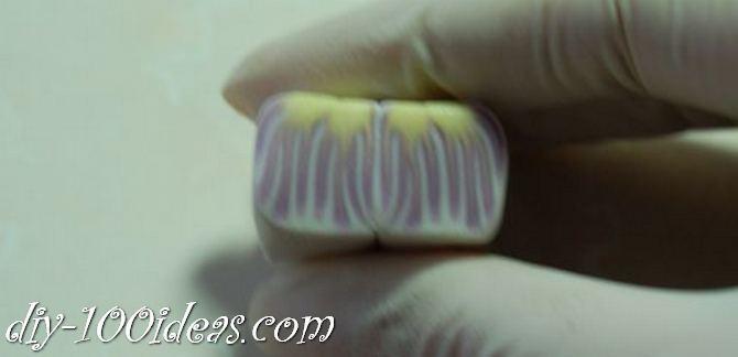 Polymer Clay Flower Petal Cane Tutorial (16)