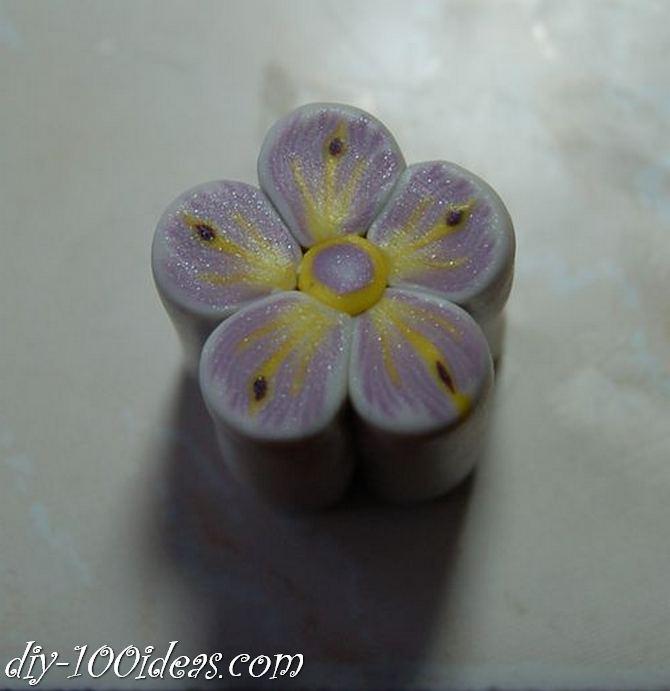 Polymer Clay Flower Petal Cane Tutorial (23)