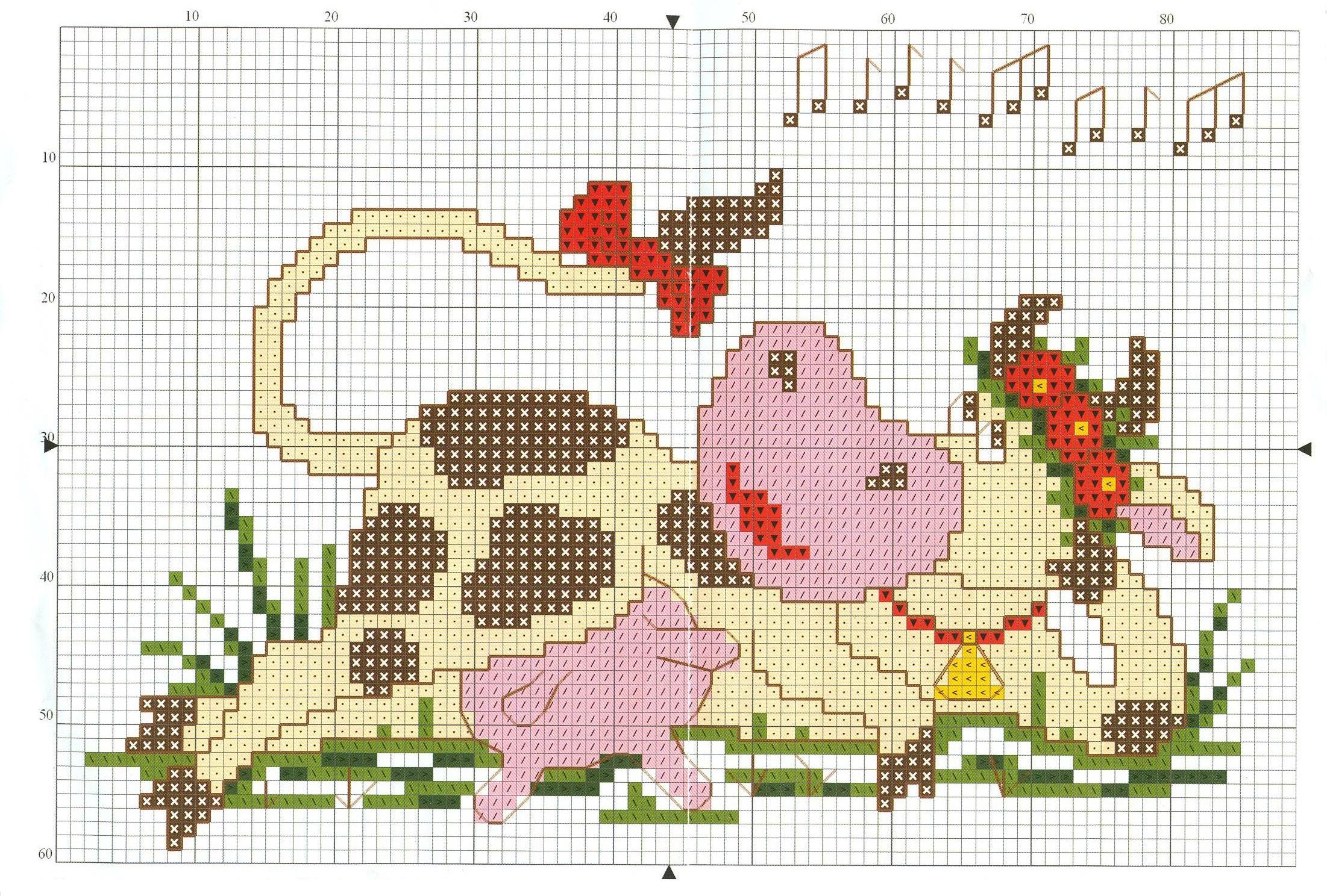 cross stitch cow pattern free (7)