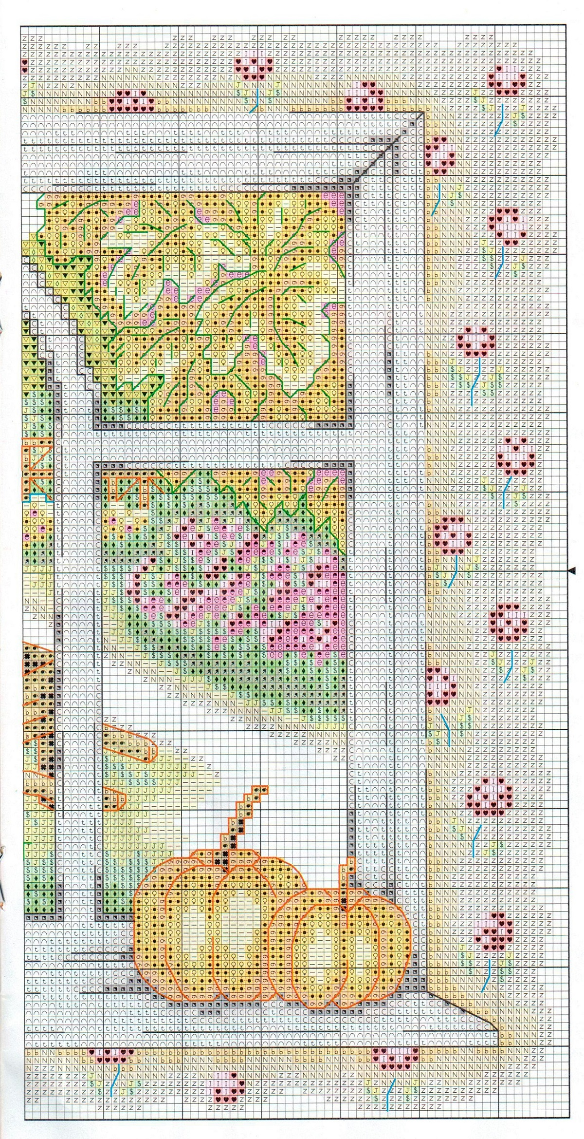 Free Cross stitch pattern Autumn | DIY 100 Ideas