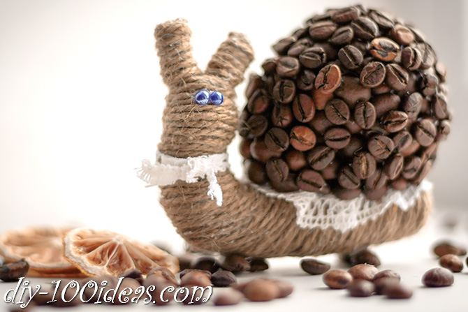DIY Coffee Bean snail (1)
