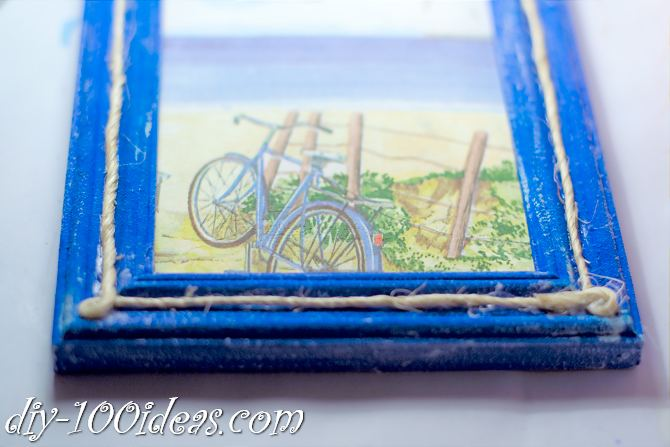 DIY Rope Frame Rustic Decor  (8)
