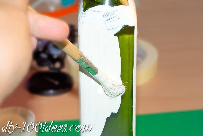 Decoupage Olive oil bottle  (2)