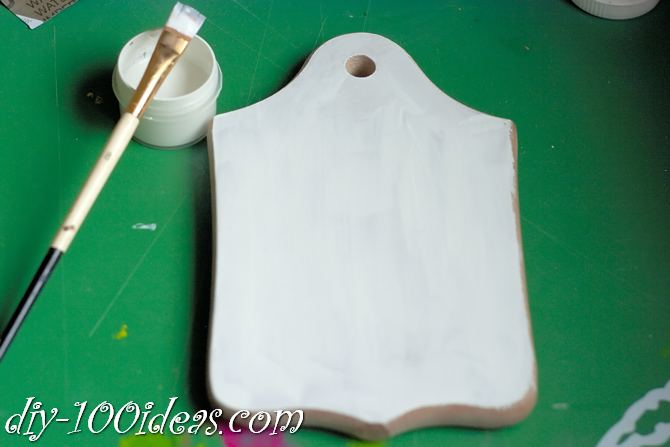 Decoupage wooden cutting board (3)