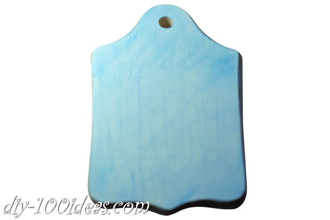 Decoupage wooden cutting board (5)
