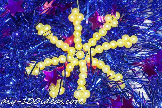 DIY Bead snowflake (20)