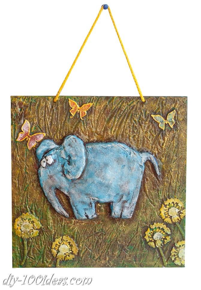 DIY  Elephant Wall Art (1)