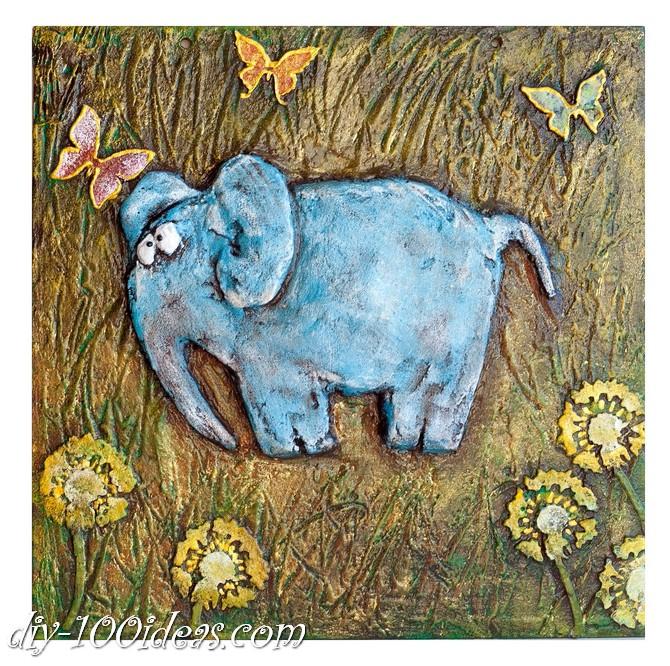 DIY  Elephant Wall Art (5)