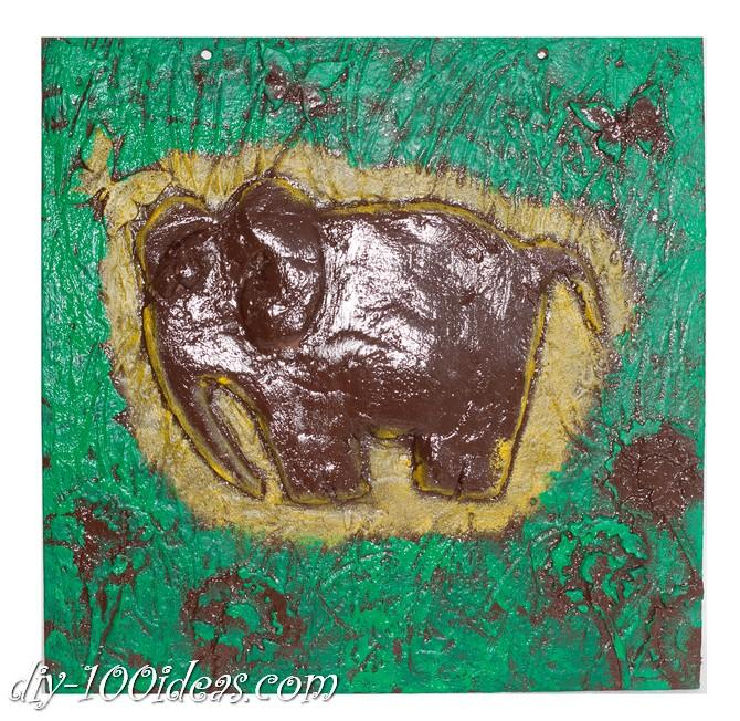 DIY  Elephant Wall Art (7)