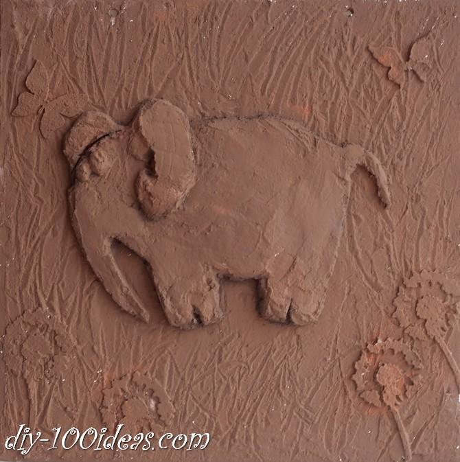 DIY  Elephant Wall Art (8)