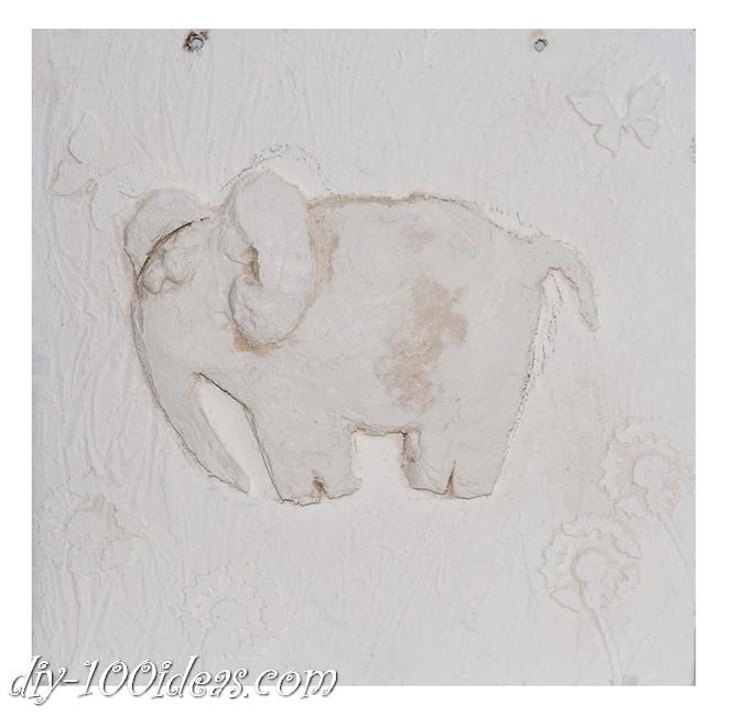 DIY  Elephant Wall Art (9)