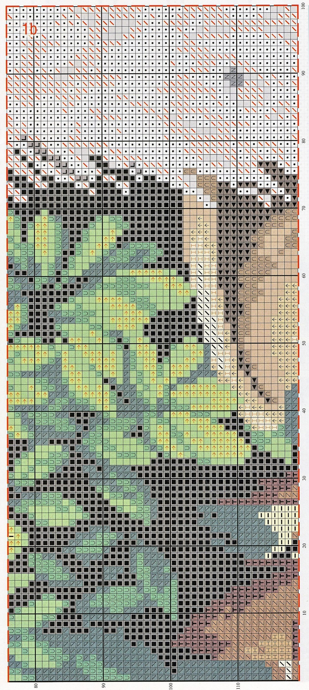 free cross stitch pattern peacock (4)