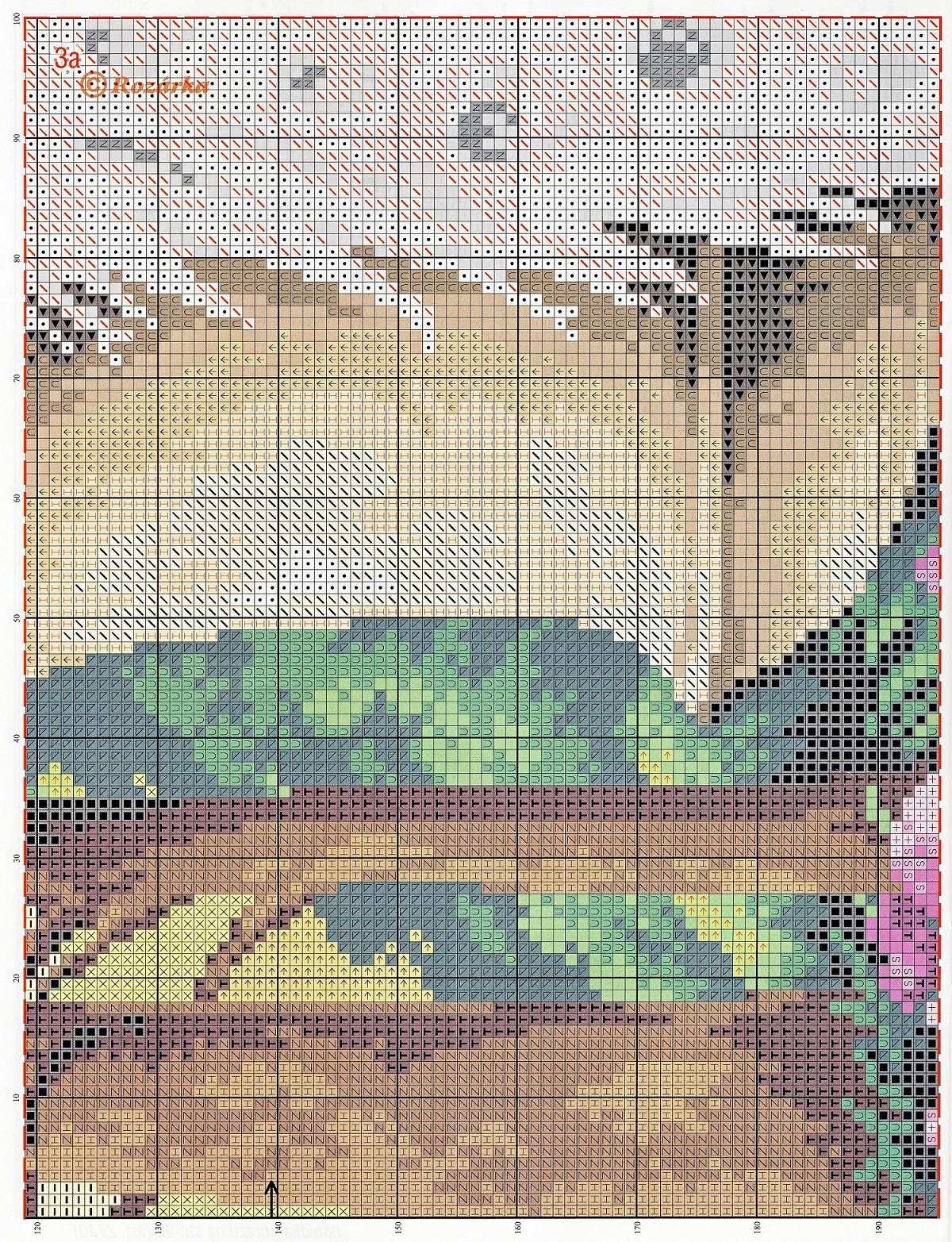 free cross stitch pattern peacock (6)
