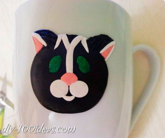 DIY Polymer clay decoration cup tutorial (8)